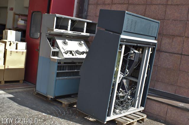 Telecinema Cintel Rai Milano rifiuti tecnologici