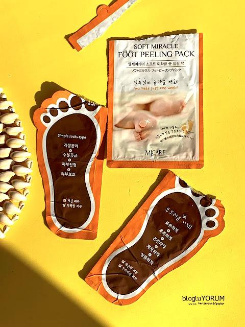 limonian mjcare çorap tipi ayak peeling maskesi incelemesi