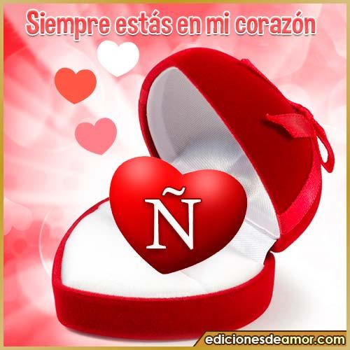 corazón con frases N
