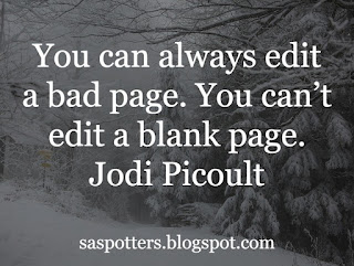 You can always edit a bad page. You can't edit a blank page.