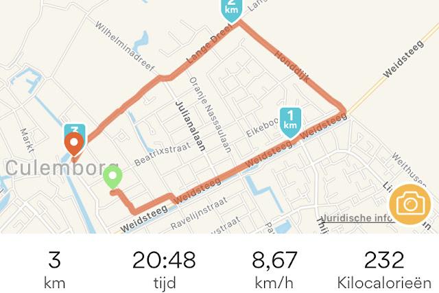Runkeeper 3 km Rennen