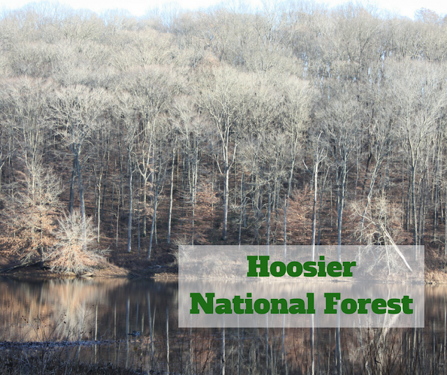 Exploring Hoosier National Forest near French Lick, Indiana