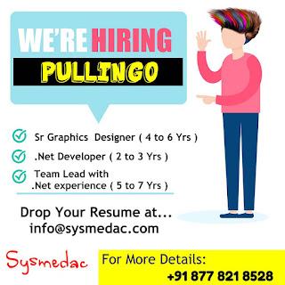 Wanted for Sr Graphics Designer and .Net Developer