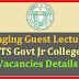Engaging Guest Faculty in TS Govt Jr Colleges - Vacancies Details