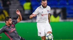 ليون يتغلب على بنفيكا في الجولة الرابعه من دوري أبطال أوروبا بثلاث اهداف لهدف وحيد