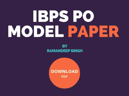 ibps bank po model papers