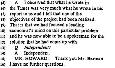George Berman, Tobacco Institute, Robert D. Tollison