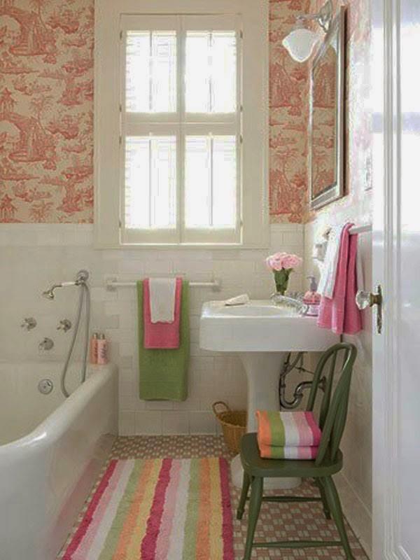 Papel pintado para baños