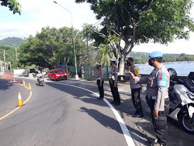 Polisi Jaga Ketat Dua Lokasi Longsor di Senggigi