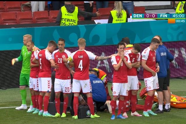 ΣΟΚ με Έρικσεν στο παιχνίδι Δανία - Φιλανδία