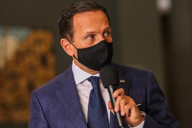 Governador João Doria testa positivo para Coronavírus