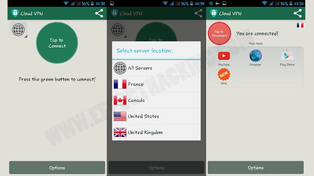 Cloud VPN Screenshots