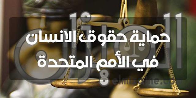 حماية حقوق الانسان في الأمم المتحدة
