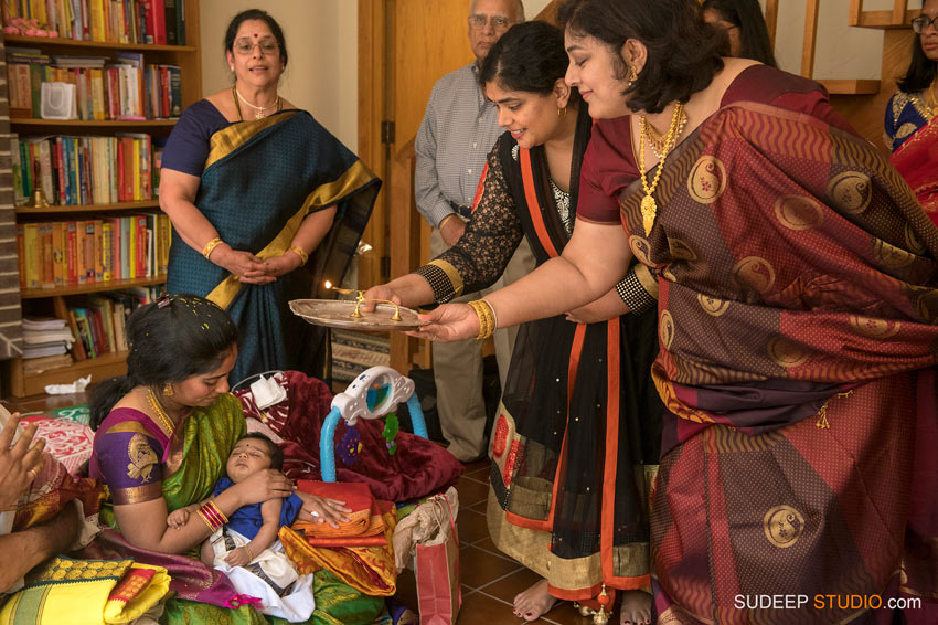 Indian Hindu Baby Naming Ceremony pradeep worship SudeepStudio.com Ann Arbor Indian Event Photographer