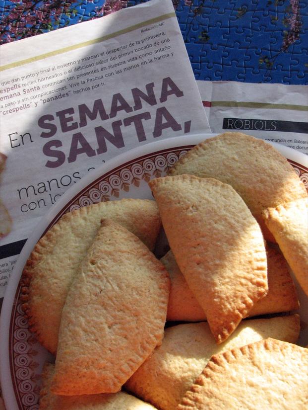 Receta de robiols con manteca Receta mallorquina de Semana Santa