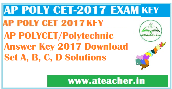 AP POLYCET 2017 Answer Key For SET A, B, C, D