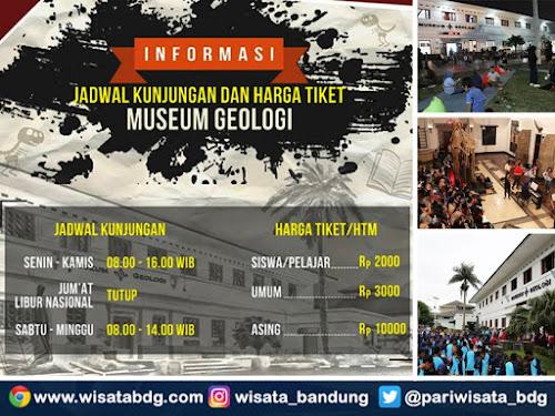 Harga tiket masuk Museum Geologi 2019