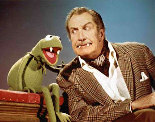Kermit and Vincent Price as vampires on The Muppet Show