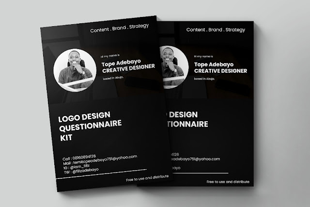 LOGO DESIGN QUESTIONNAIRE KIT by Temitope Adebayo