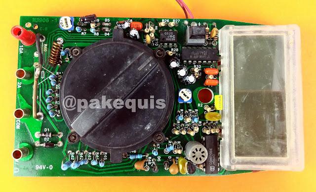 Placa do Multímetro Minipa ET-1501 lado dos componentes