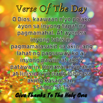 Bible Verse Of The Day Tagalog  September 17 2020  Give Thanks To The Holy One Photo