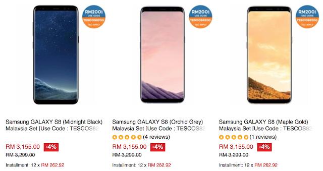 Tesco Lazada Voucher Code Samsung GALAXY S8 Malaysia Price Discount