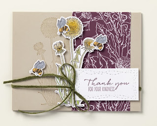 Stampin' Up! Dandelion Wishes + Stitched with Whimsy Dies #stampinup