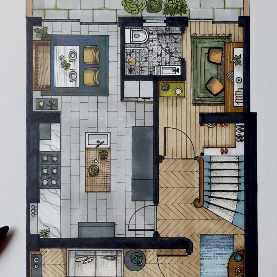 02-Floor-Plan-Detail-Malcolm-Begg-Interior-Design-Drawings-of-a-Victorian-House-www-designstack-co