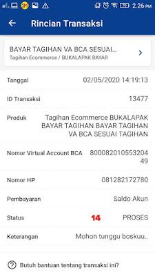 Proses Bayar Tagihan Virtual Account BCA
