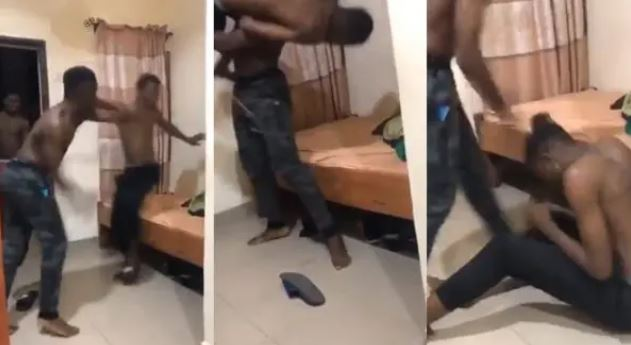 Oh no! Babcock Student Beating Younger Student Over Slippers (Watch Video)