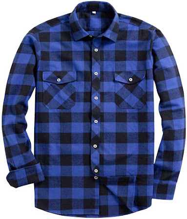 Best Blue Men's Plaid Flannel Shirts