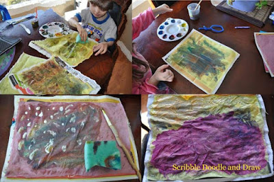 Eric Carle butterflies painted tissue paper