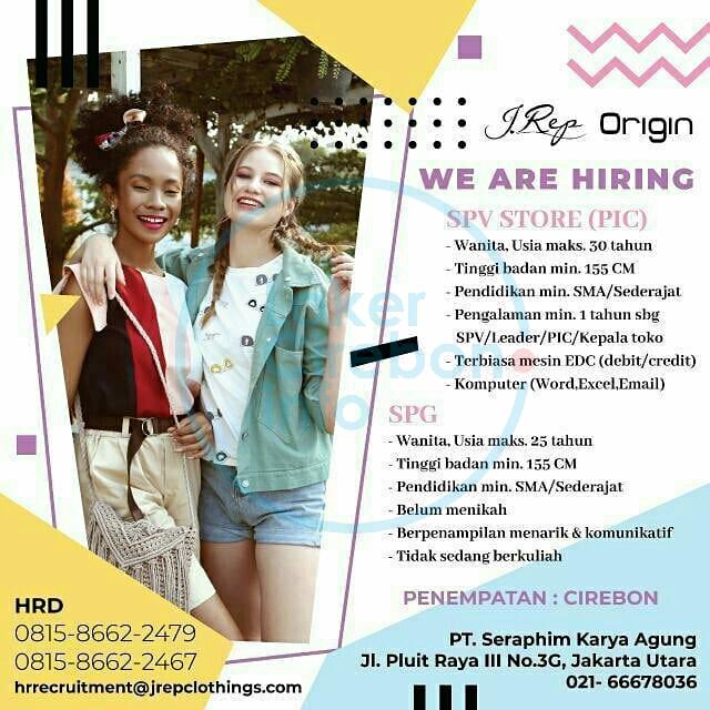 Lowongan Kerja J Rep Csb Mall Cirebon Lokercirebon Info