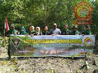 Mapala IMAPEKA FP UNA Giat Tanam Mangrove di Desa Silo Baru