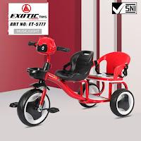 Sepeda Roda Tiga Anak Exotic ET5777 Boncengan Baby Tricycle
