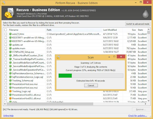 تحميل برنامج ريكوفا عربي Download Recuva 2020 استرجاع المحذوفات للكمبيوتر - موقع حملها