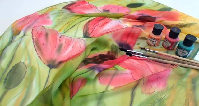 рисунок на ткани батик