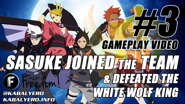 Naruto Online Gameplay #3 ★ Sasuke Joined The Team & Defeated The White Wolf King