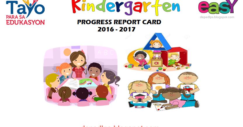 Kindergarten Progress Report Cards - DepEd LP's
