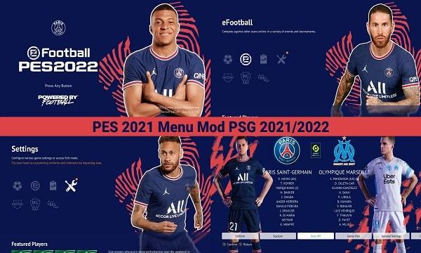 PES 2021 Mod Menu PSG 2021-2022