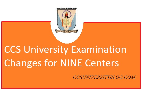 CCS University: Examination Hall rules changes, Check here