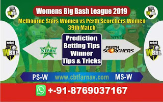 Womens Big Bash League 2019 Perth vs Star 39th WBBL 2019 Match Prediction Today Reports