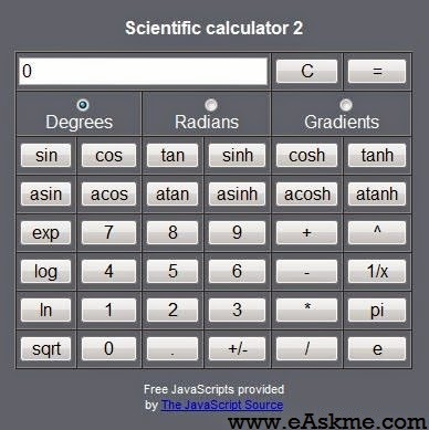 calculator for free : eAskme