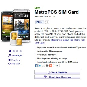 MetroPCS SIMs Now Available Online | Prepaid Phone News