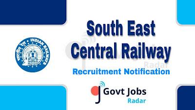 SECR Recruitment notification 2019, govt jobs in Maharashtra, govt jobs for ITI, govt jobs in India, railway jobs, central govt jobs