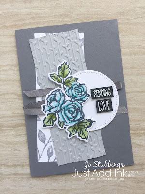 Jo's Stamping Spot - Just Add Ink Challenge #401 using Petal Passion Bundle by Stampin' Up!