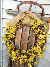 Eleanor Olander . Spring Front Porch Decor