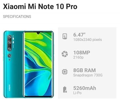 Xiaomi Mi Note 10 dan Note 10 Pro masuk Malaysia pada Desember