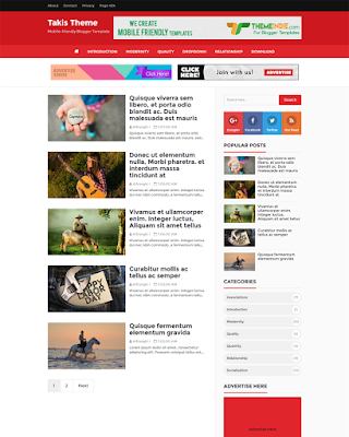 Takis Blogger template responsive high CTR