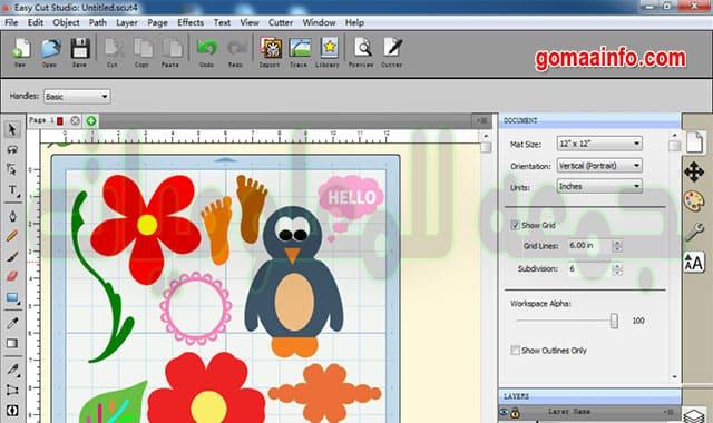تحميل برنامج الرسم وتحويل الصور إلى فيكتور | Easy Cut Studio 5.011